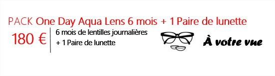 illustration du pack liberté à votre vue d'OPTICEO, une paire de lunettes, et des lentilles