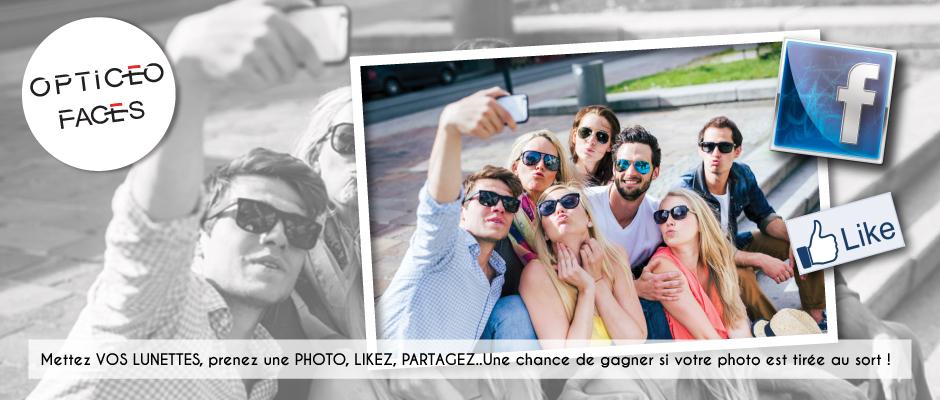 Un selfie avec vos lunettes, une chance de gagner 200€... Tentez votre chance !